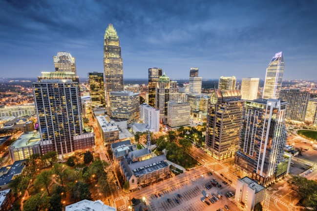 Uptown Charlotte has a beautiful skyline
