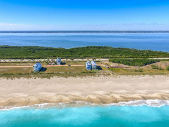 Watersong Oceanfront on Hutchinson Island Aerial