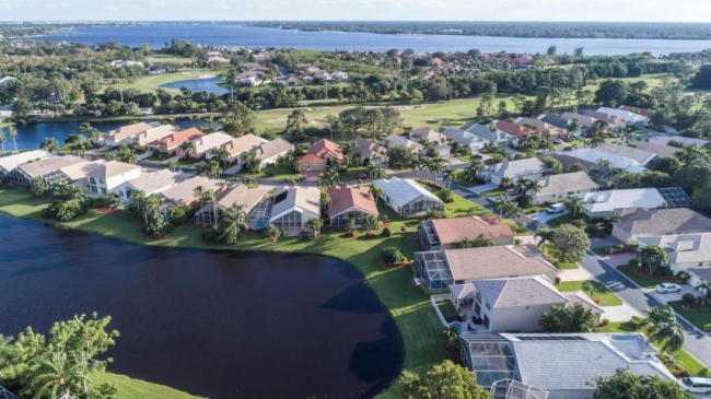 Aerial view of the  Ballantrae community in Port Saint Lucie